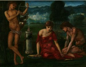 Edward Coley Burne-Jones - Un Sacrificio a Himeneo