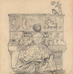Edward Coley Burne-Jones - Georgiana Burne-Jones en el piano