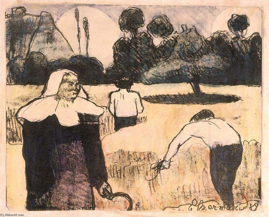 Le moissonneur (The Harvester) de Emile Bernard (1868-1941, France)