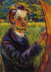 Ernst Ludwig Kirchner - Retrato del pintor Erich Heckel