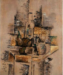 Georges Braque - botella y frutas