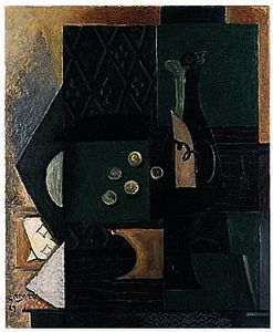 Georges Braque - botella y uvas