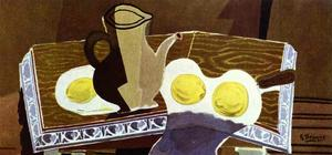 Georges Braque - Pitchet , vidrio y limones