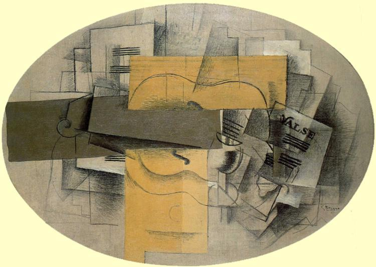 El violín Valse, 1913 de Georges Braque (1882-1963, France) |  | WahooArt.com