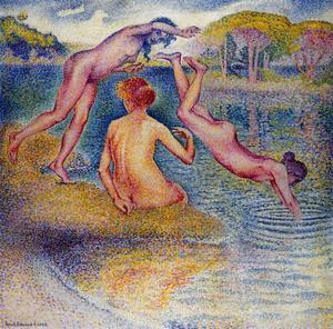 Henri Edmond Cross - Bañistas 3