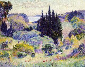 Henri Edmond Cross - Cypress, April