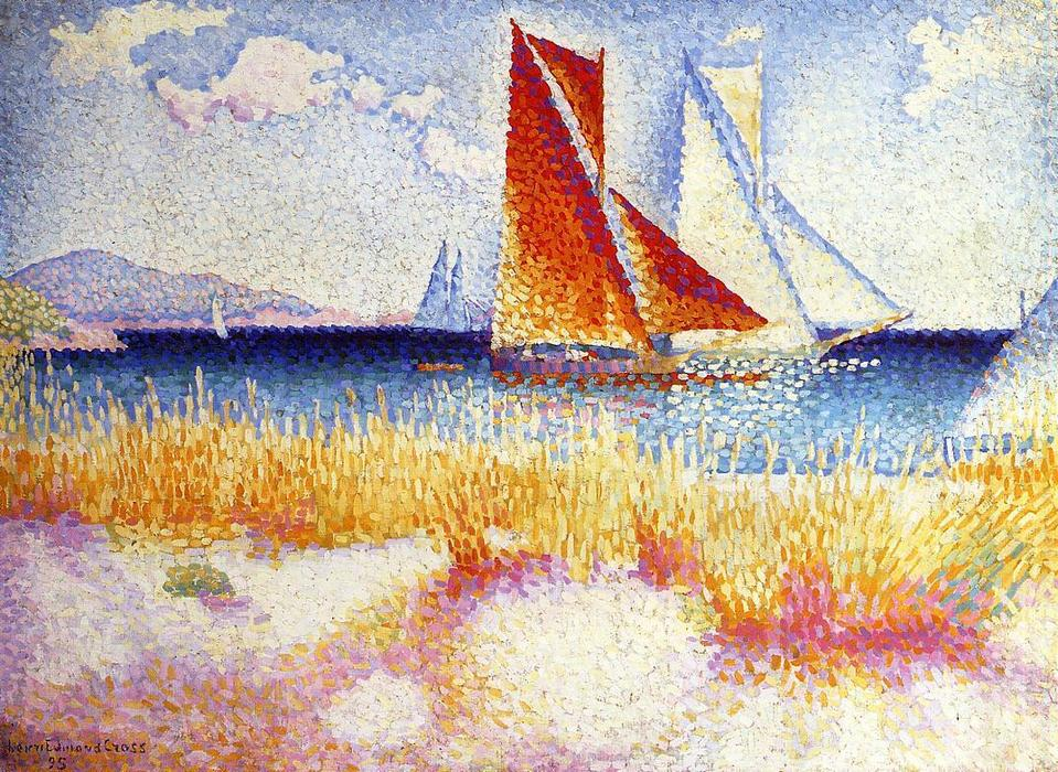 Regata, 1895 de Henri Edmond Cross (1856-1910, France) | Copia De La Pintura | WahooArt.com