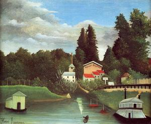 Henri Julien Félix Rousseau (Le Douanier) - The Mill at Alfort