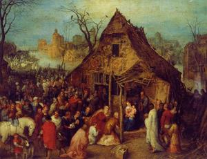 Jan Brueghel The Elder - la adoración of los reyes magos 2
