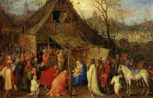 Jan Brueghel The Elder - La Adoración de los Magos