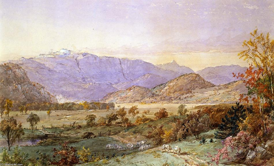 principios nieve on monte Washington de Jasper Francis Cropsey (1823-1900, United States)