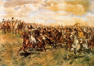Jean Louis Ernest Meissonier - El battle of Friedland . 1807