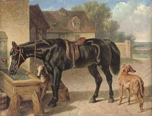 John Frederick Herring Senior - Hack and galgos de un agricultor