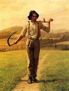 John George Brown - Fieldhand con Sythe