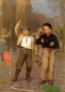 John George Brown - Kite Flyers