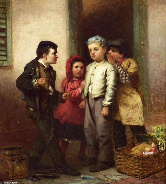 Lo sentimos Habló, óleo sobre lienzo de John George Brown (1831-1913, United Kingdom)