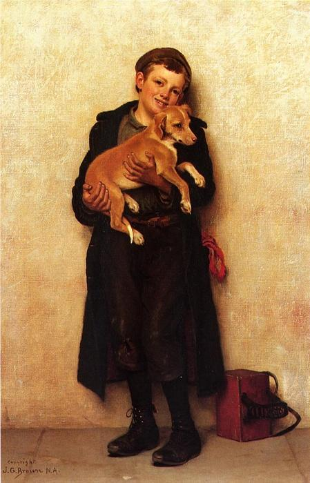 El Bootblack 1 de John George Brown (1831-1913, United Kingdom)