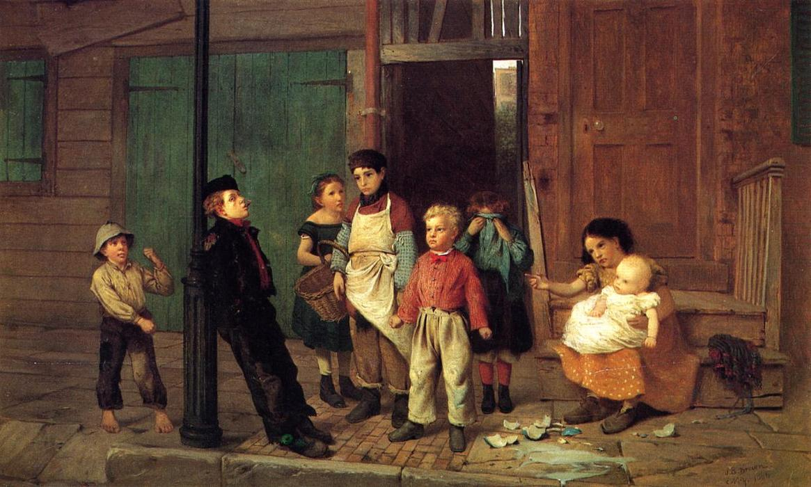 El matón del Barrio de John George Brown (1831-1913, United Kingdom)