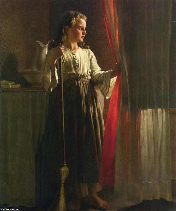 La Chinita, óleo sobre lienzo de John George Brown (1831-1913, United Kingdom)