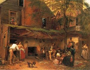 Jonathan Eastman Johnson - la vida en el sur ( aka mi old kentucky home )