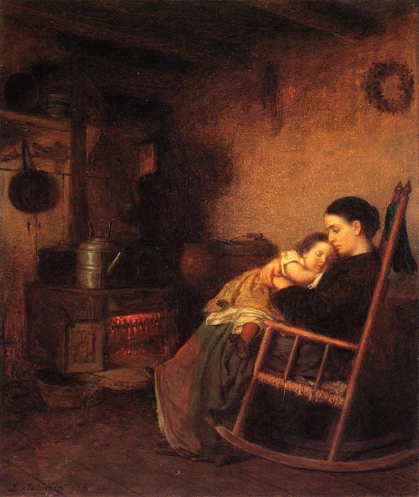 Madre y el Niño de Jonathan Eastman Johnson (1824-1906, United Kingdom)