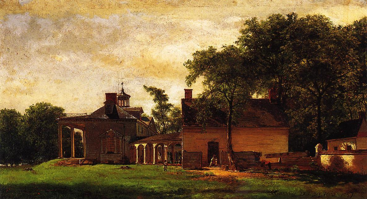 The Old Mount Vernon de Jonathan Eastman Johnson (1824-1906, United Kingdom) | Reproducciones De Pinturas Famosas | WahooArt.com