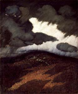 Marsden Hartley - tormenta nubes , Maine