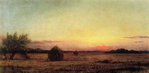 Martin Johnson Heade - Jersey Meadows con ruinas de un Haycart