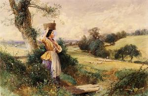 Myles Birket Foster - The Milk-dama