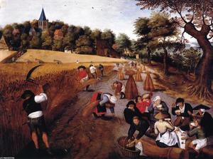 Pieter Bruegel The Younger - La Cosecha