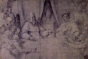 Sebastiano Del Piombo - clement` vii y charles v