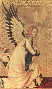 Simone Martini - El Angel of la anunciación 1