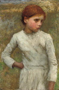 George Clausen - Chica joven