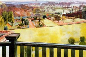 Stanley Spencer - Oxfordshire Paisaje