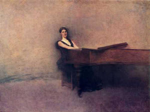 Thomas Wilmer Dewing - el piano
