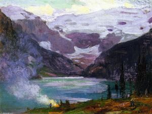 Edward Henry Potthast - Camp de Lake Louise