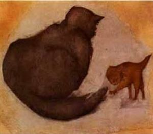 Edward Coley Burne-Jones - Gato y gatito