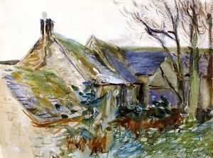 John Singer Sargent - Cottage en Fairford, Gloucestershire (también conocido como Dependencias, Morgan Hall)