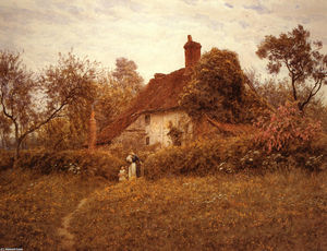 Helen Allingham (Helen Mary Elizabeth Paterson) - Cottage en Pinner