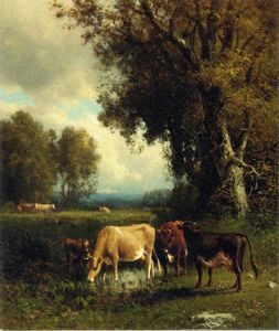 William Hart - vacas en el prado