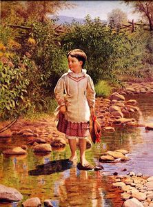 John George Brown - Cruzando el arroyo