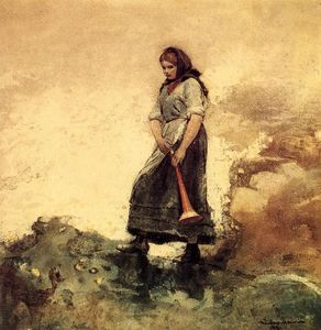 Winslow Homer - hija de costa guardia