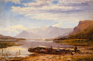 Benjamin Williams Leader - Derwentwater desde Ladore