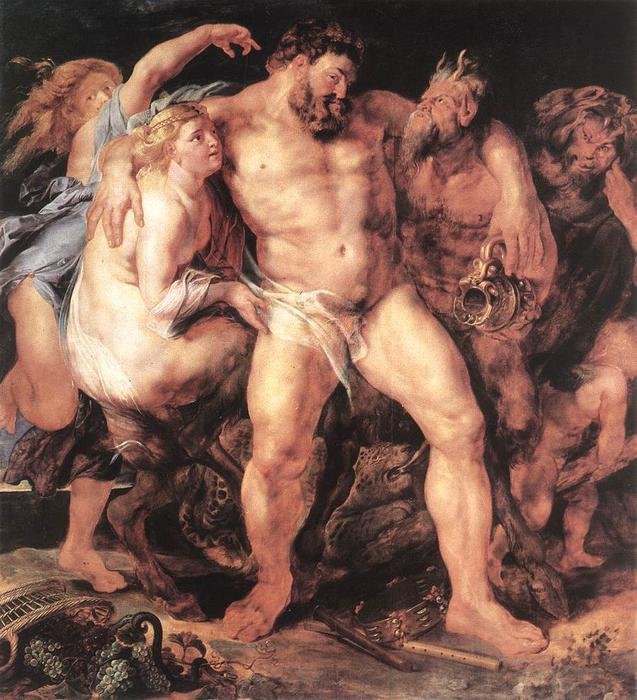 The Drunken Hércules, 1611 de Peter Paul Rubens (1577-1640, Germany) | WahooArt.com