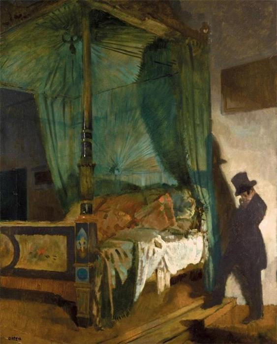 La cama vacía de William Newenham Montague Orpen (1878-1931, Ireland)