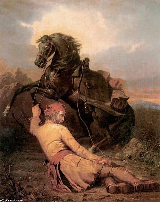 El trampero Caídos, 1852 de William Tylee Ranney (1813-1857, United States) | Reproducciones De Bellas Artes William Tylee Ranney | WahooArt.com