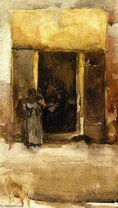 James Abbott Mcneill Whistler - Figuras en un portal