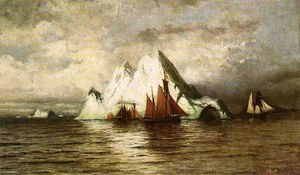 William Bradford - Barcos de pesca y los icebergs