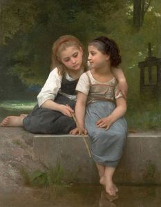 William Adolphe Bouguereau - La pesca de ranas