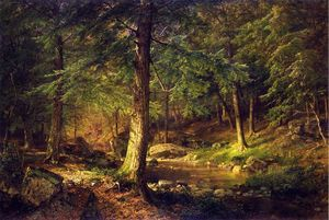 William Trost Richards - bosque escena